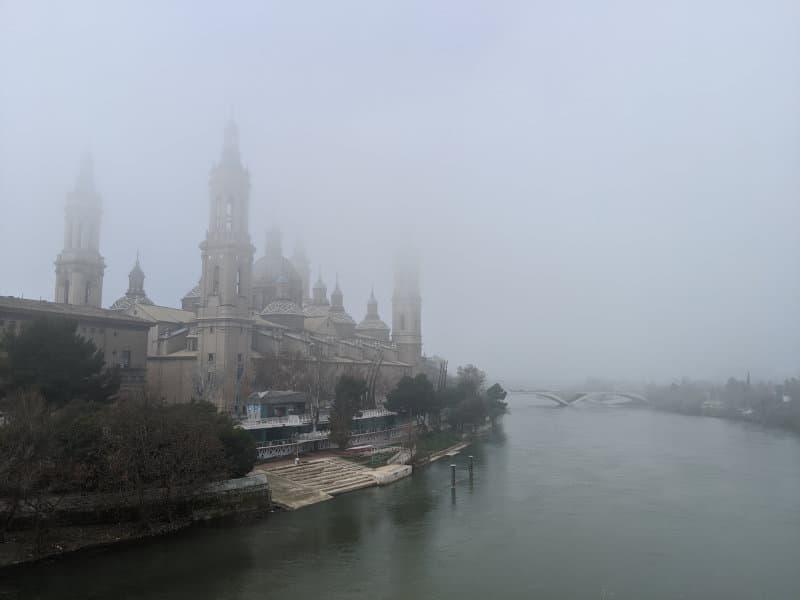 Fog in Zaragoza
