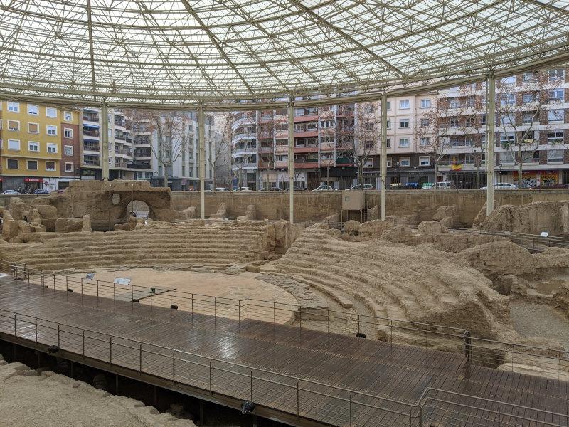 Zaragoza theatre ruins