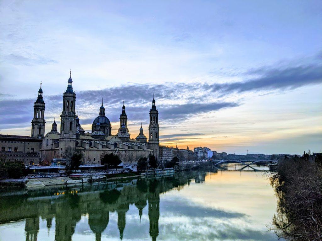 Epic sunset in Zaragoza