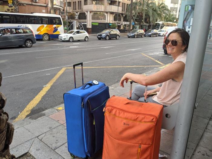 Alicante bus stop