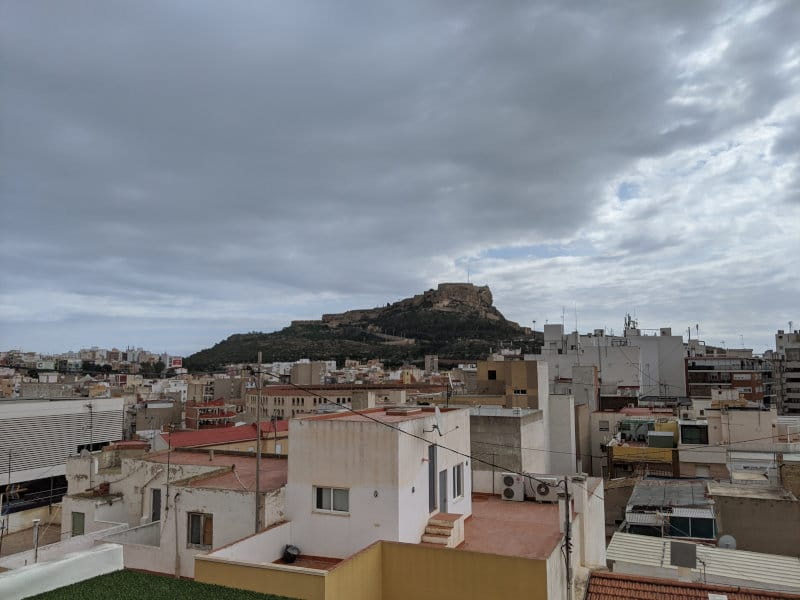 Alicante view cloudy day