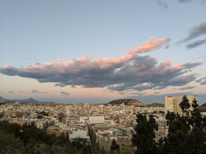 Alicante sky view