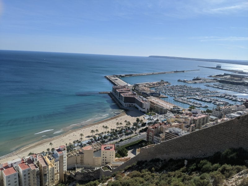 Alicante water view