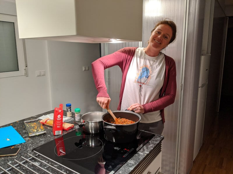 Cooking in Alicante night 1
