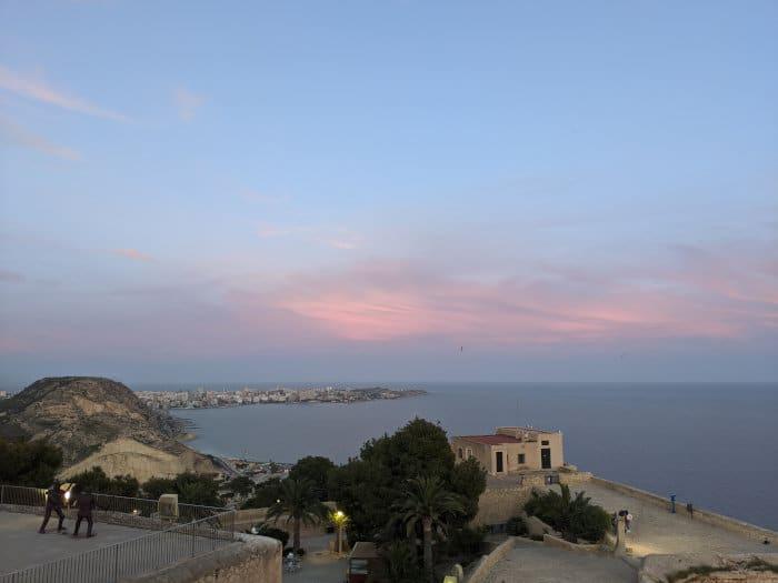 Pink sky Alicante